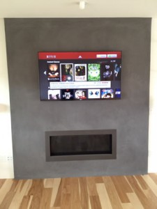 Home remodel living room with fireplace Encinitas CA