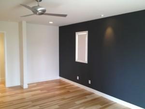 Custom home remodel, wood floors and accent wall Encinitas CA