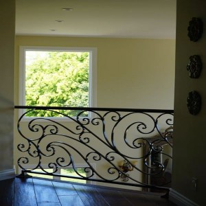 Mediterranean wrought iron baluster hand rail