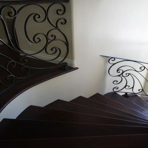 Mediterranean staircase baluster from wall home remodel in Carlsbad CA