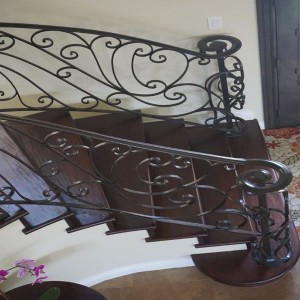 Wrought iron baluster and newel