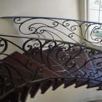 Mediterranean staircase constructed by DM Build in Carlsbad CA