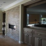 Built-in entertainment center. New home remodel Carlsbad, CA