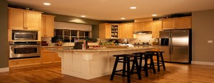 Kitchen remodeling panorama of high end design by DM Building INC.