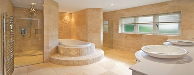 Bathroom remodeling by DM Building INC.