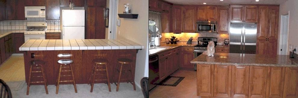 before and after Custom kitchens by DM Building INC.