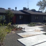 Custom ranch home remodel Encinitas CA landscaping