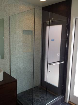 Mosaic tile option for custom bathroom remodel Encinitas CA
