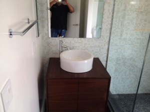 Custom tile work in bathroom remodel Encinitas, CA