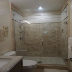 Frameless shower doors bathroom remodel