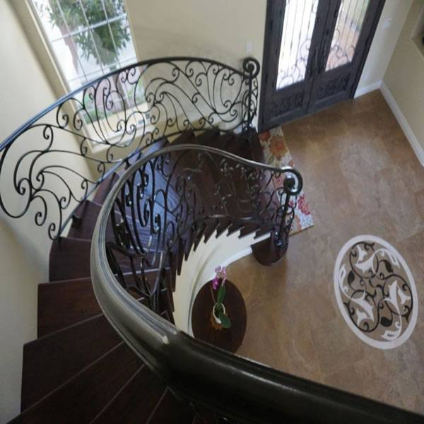 Mediteranian radius staircase by general contractor DM Build