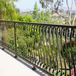 Balcony wrought iron baluster design by DM Build Carlsbad customer home builder and remodel