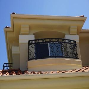 Mediterranean Bedroom Balcony by Carlsbad Custom home builder DM Build