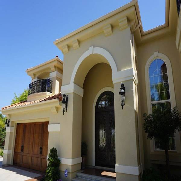 Custom Home Remodel front entrance by Carlsbad custom home builder DM Build