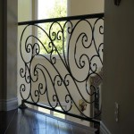 Custom built home contractor designed wrought iron rail interior for two story home remodel in Carlsbad CA