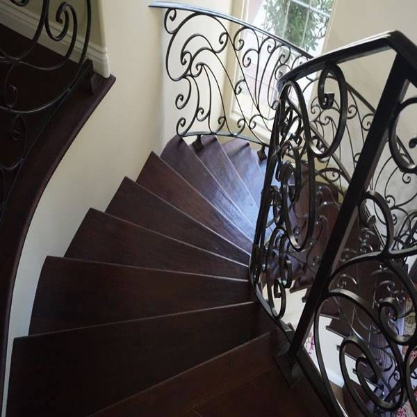 Mediterranean radius staircase home remodel and addition in Carlsbad CA near San Diego