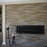 Textured wall tiles create a wavy design home remodel in San Diego county