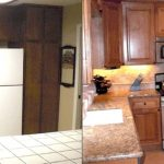 Custom Kitchen before and after