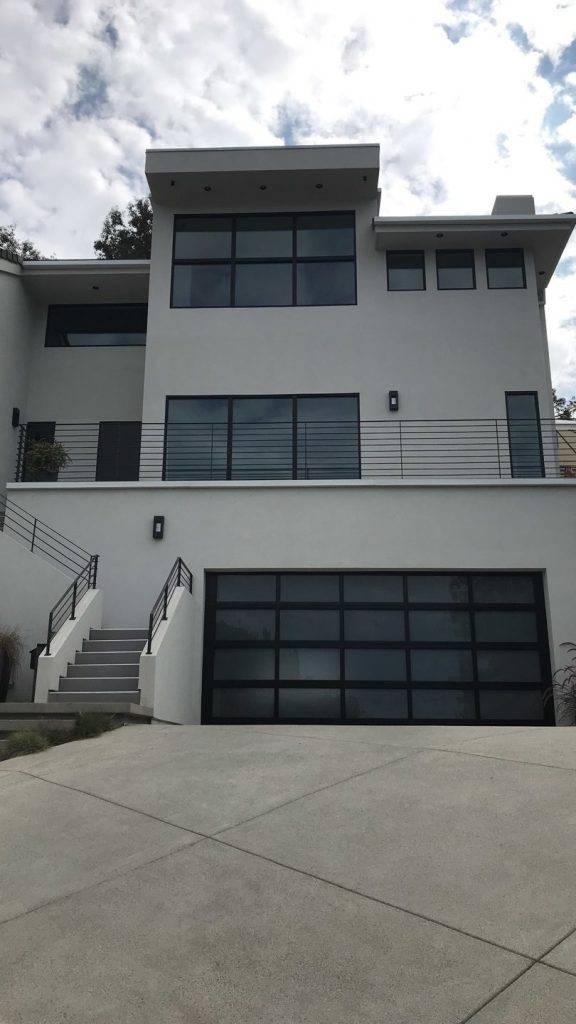 La Jolla New Residence driveway and staircase