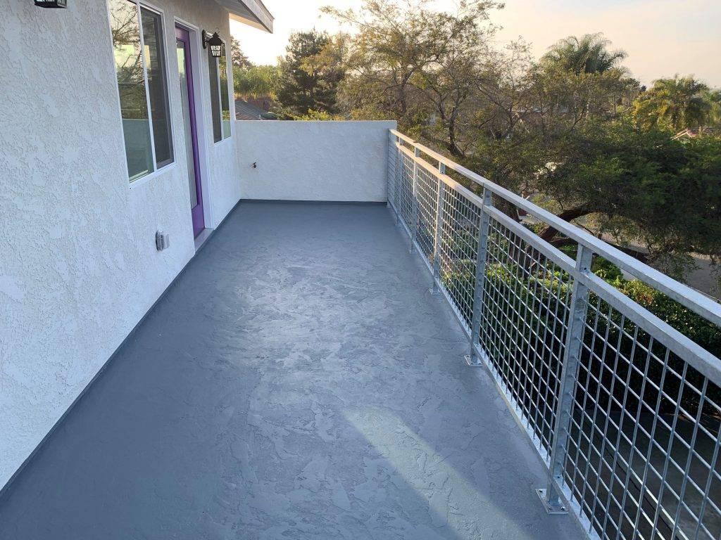 Second story additional dwelling unit balcony
