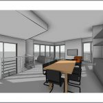architectural drawing new residential build contemporary dining living area