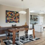 new residential build contemporary kitchen dining area