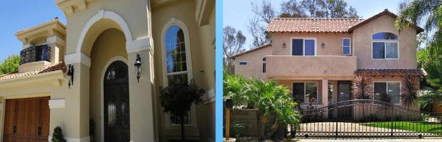 new home exterior views